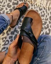 Summer Fashion Women Slippers Flip Flops Casual Beach Flat Sandals Ladies Retro Soft Gladiator Slippers Women Shoes