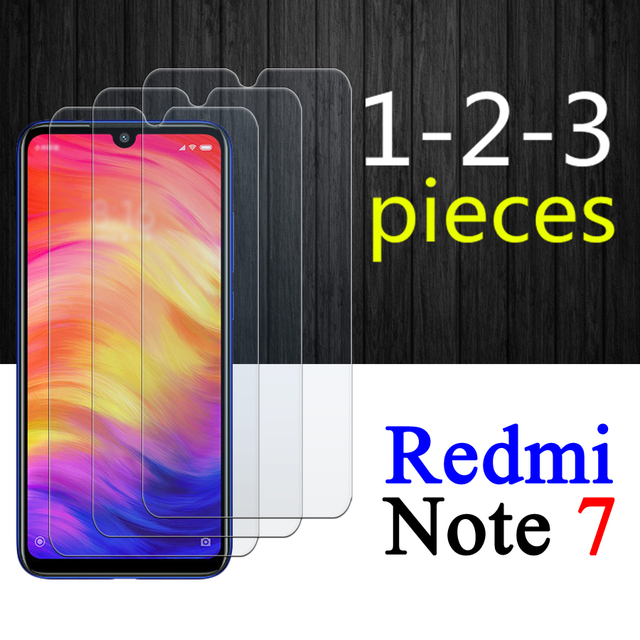 1-3Pcs Redmi Note 7 screen protector On For Xiaomi Note7 tempered glass redmi7 xiaomi7 7Note redminote7 protective glas armored