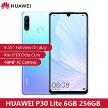 "HUAWEI P30 לייט 6.15 ""FHD Kirin710 6GB 256GB נייד טלפון 32MP מול מצלמה 3340mAh סוללה אוקטה core EMUI 9.0 FCC נייד"