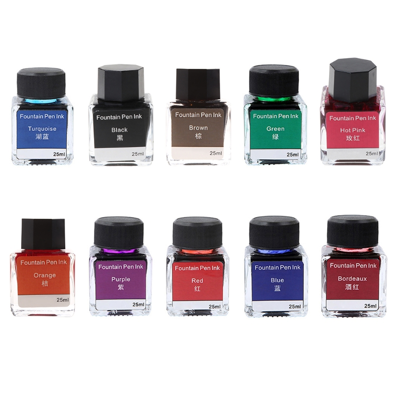 Colorful Non-carbon Ink for Dip Fountain Pen Calligraphy Writing Painting Graffiti School Office Stationery