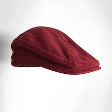 Autumn Winter Men Cap Hats Berets British Western Style Wool Advanced Flat Ivy C