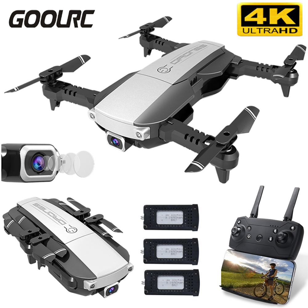 GoolRC H3 RC Drone 4K Camera Real-Time Image Transmission Wifi FPV Optical Flow Foldable RC Quadcopter Helicopter Toy For Kids
