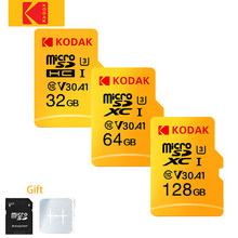 Kodak-tarjeta de memoria de alta velocidad C10 u1 u3, micro sd v30 de 16GB, 32GB, 64GB, 128GB, 256gb microsd, mini tarjeta TF, Adaptador sd gratis