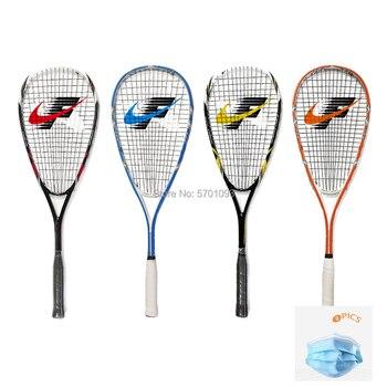 speedminton NO.390 Carbon Head Squash Racket With Squash String Bag Speed Sports Carbon Padel Match Training Racquet Head Raquet