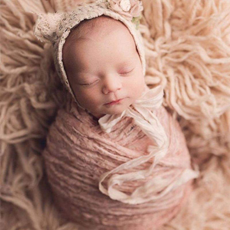 Винтаж Вязание наслоения Обёрточная бумага для новорожденных Подставки для фотографий для маленьких девочек фотография, фото съемки Flokati фотосессия студийная доступа