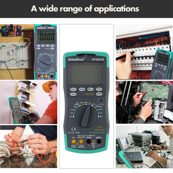 Miernik cyfrowy multimetr prądu LCD z detektorem NCV AC miernik napięcia prądu rezystancja diody Capaticance Tester multimetr tanie i dobre opinie KKMOON Elektryczne 9 999nF 99 99nF 999 9nF 9 999μF 99 99μF 999 9μF 9 999mF 99 99mF HP-890CN Approx 19 * 8 5 * 3 5cm 7 67 * 3 35 * 1 37in (L * W * H)
