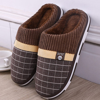 Warm slippers men 2020 hot soft winter indoor for plush comfortable shoes hard-wearing cheep