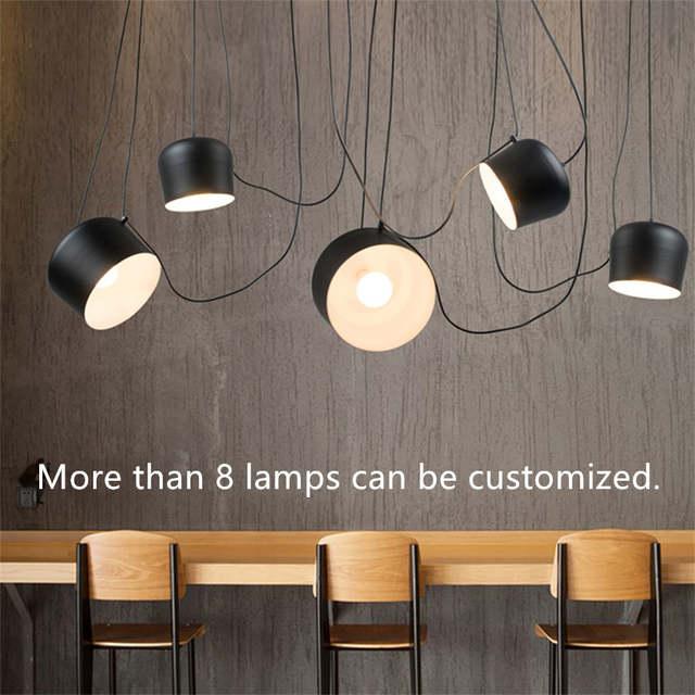 Us 10 14 20 Off Vintage Retro Black Chandelier Drum Pendant Lamps Fixtures Dining Living Room Industrial Decor Chambre Hanging Lamp Lustre Avize In