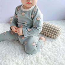 Boys Girls Spring Autumn New Printed Bunny Home Clothing Children Long Sleeve Pajamas Sets