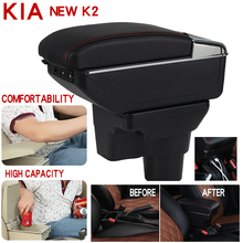 For Kia New K2 Armrest Box Universal Car Central Storage cup holder ashtray modification accessories