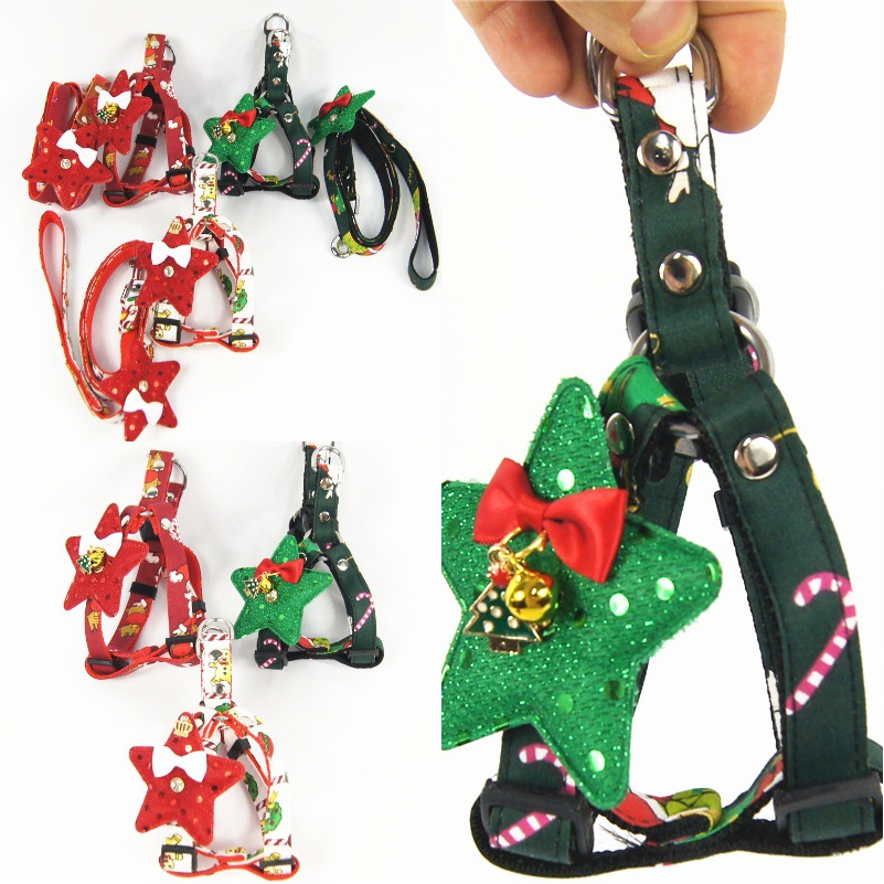 Christmas New Products Dog Hand Holding Rope Pet Triangular Chest And Back Pet Supplies