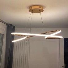 ניאו זהב בוהק מצופה כרום מודרני Led תליון אורות חדר אוכל מטבח חדר בר חנות תקרת מנורת 90 260V משלוח חינם