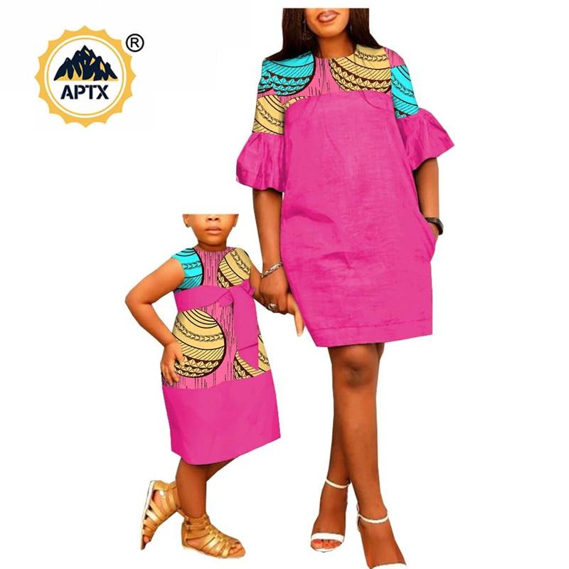 Купить африканская одежда для мамы и дочки подходящая повседневное