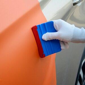 Image 4 - Foshio 100pcs 3 레이어 패브릭 펠트 천으로 방수 가장자리 10cm 탄소 섬유 비닐 스퀴지 자동차 랩 창 색조 스크레이퍼 천으로