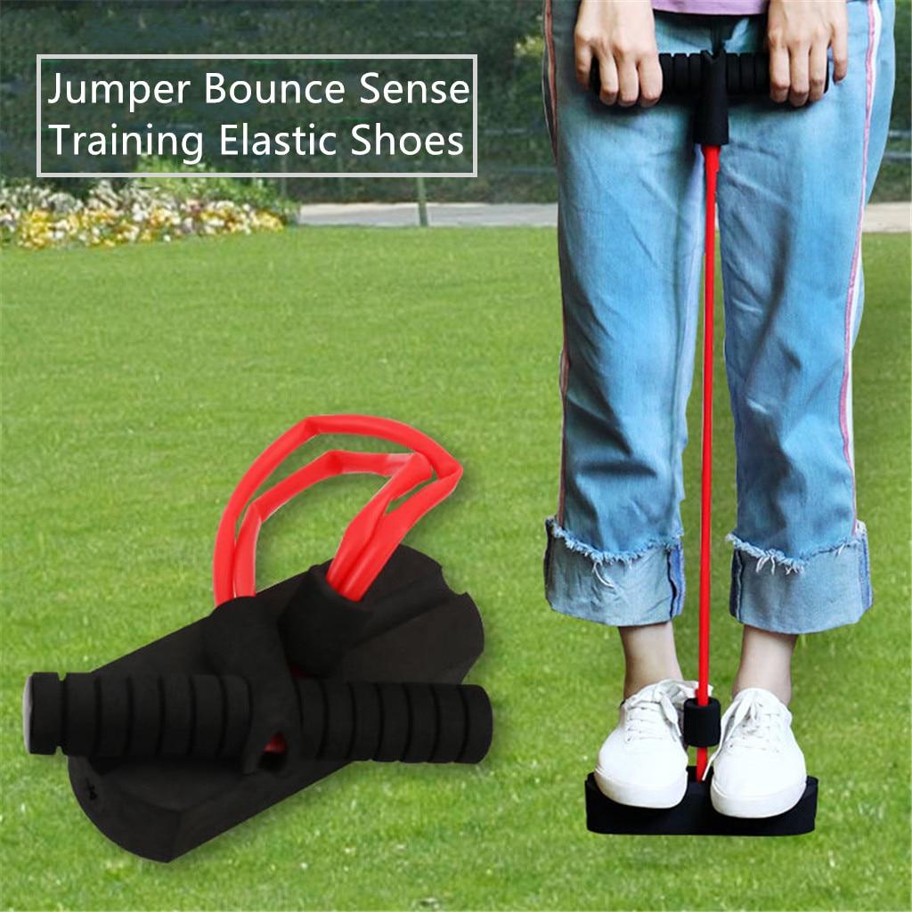 Esportes ao ar Jumper Bounce Sentido Formação Brinquedo Espuma Sapo Sapato Elástico Crianças Livre Saltando Treinamento