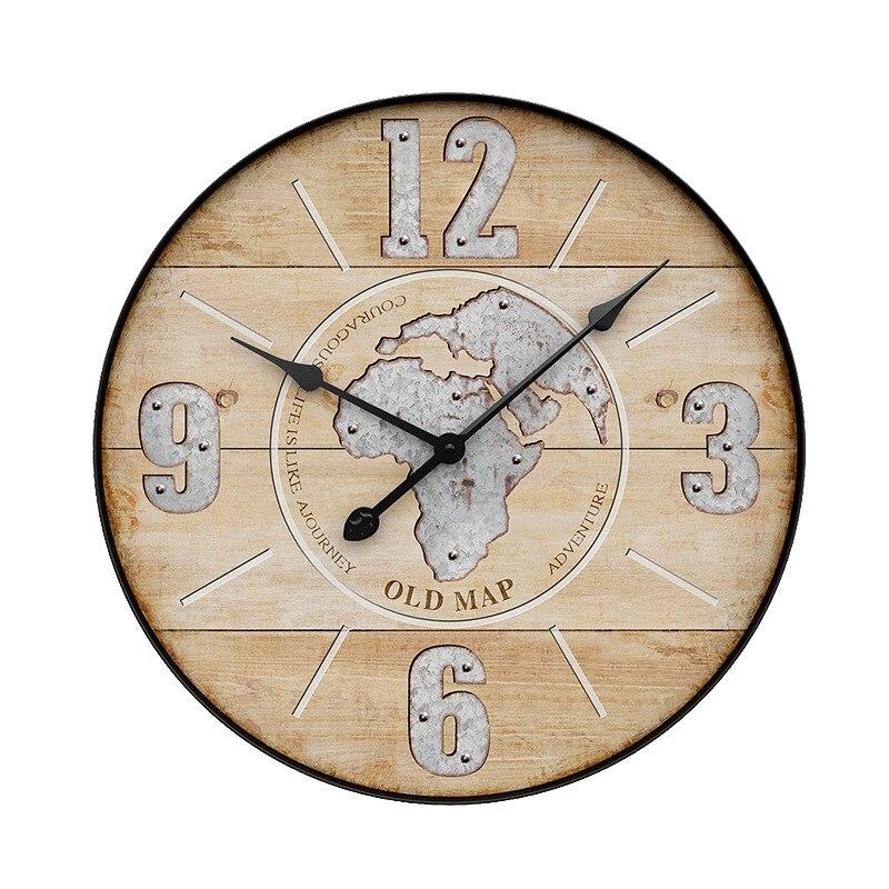 Horloge murale européenne créative salon silencieux chambre horloge atmosphère Art personnalité Restaurant décoration horloge R2268