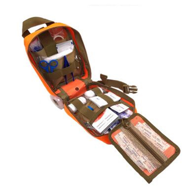 19 Pcs/set  Camping Tactical Medical Pouch EMT Emergency Survival Kit Hunting Outdoor Box Large Size 600D Nylon Bag Package