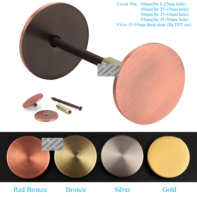Stainless Steel Door Hole Cover Plate Filler Bell Entry Door Security Covering Unused Hardware Holes