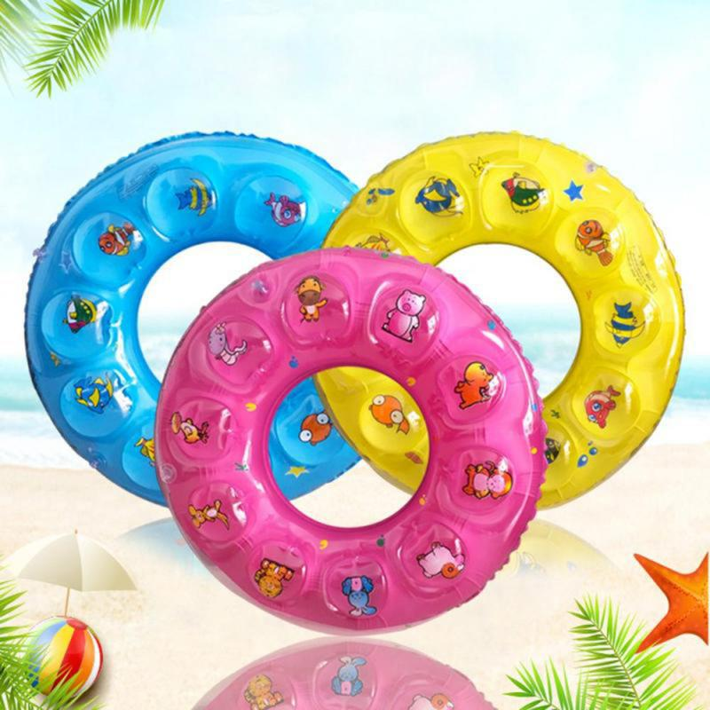 Double Baby Kids Summer Swimming Ring Inflatable Cartoon Baby Swimming Ring Kids Armpit Float Circle Thickened Bathing Ring