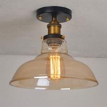 Ретро промышленный для верхнего этажа стеклянная потолочная лампа простота дизайна помещения: балкон, коридор лампа крыльцо света