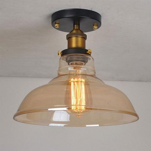 lampada do teto da industria retro luminaria de teto de vidro da sala de estar