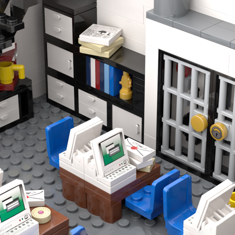 Moc 21474 modular police station with 3128 parts