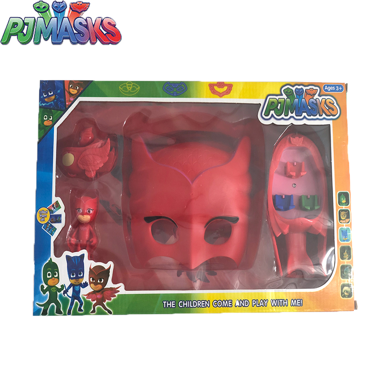 4pcs/set Original Pj Masks Juguete Catboy Owlette Gekko Model Car Action Figures High Quality Birthday Gift Toys For Children