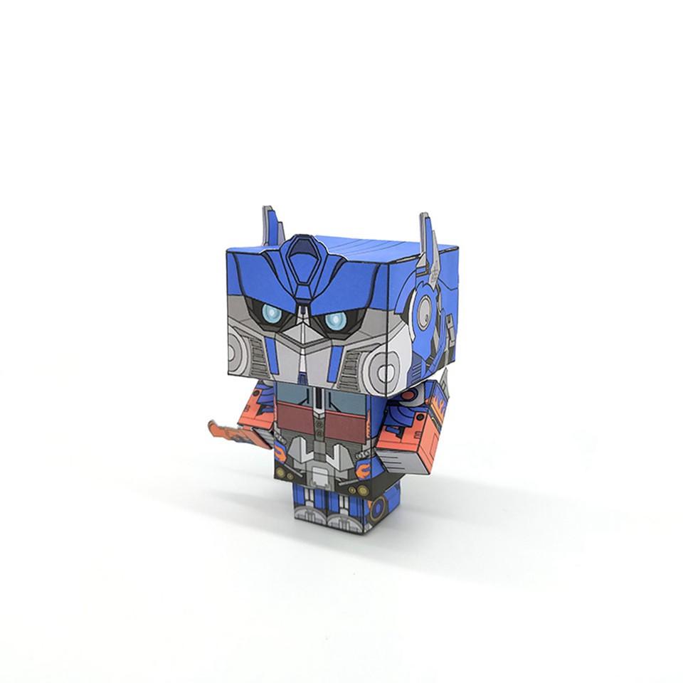 No glue Optimus Prime Transformers Folding 3D Paper Model
