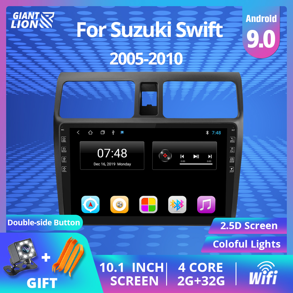 2DIN <font><b>Android</b></font> 9.0 Car Radio Multimedia Player For <font><b>Suzuki</b></font> <font><b>Swift</b></font> 2005 2006 2007-2010 2007 Navigation GPS Autoradio Car DVD Player image
