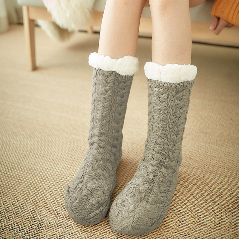 Lanshulan Women Winter Socks Canada -30 Degrees Fuzzy Fleeces Wool Socks For Girls Boys Thicken Socks Floor Warm