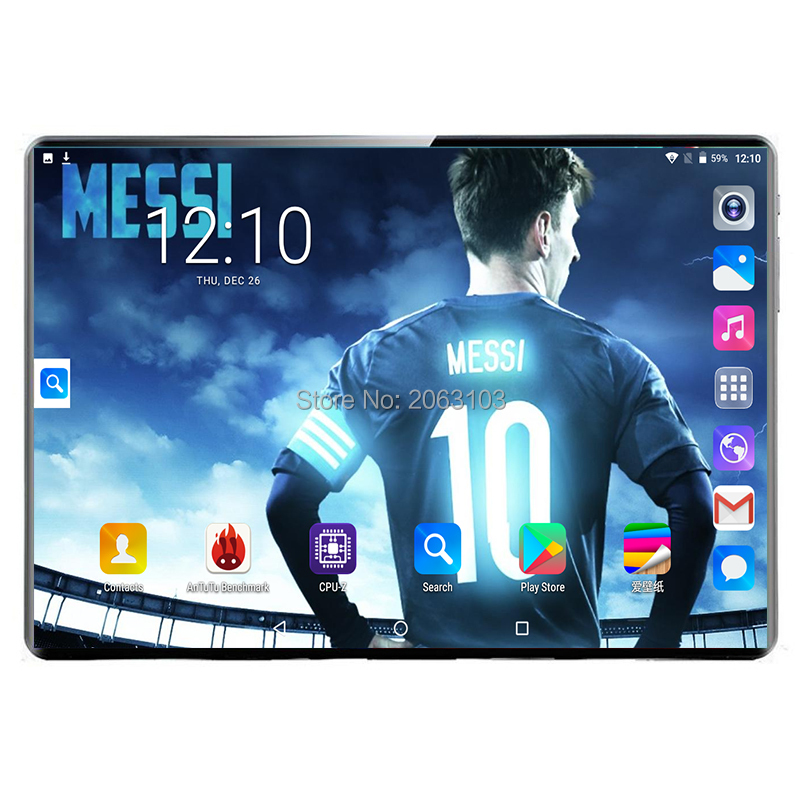 2020 Global New 10.1 Inch Tablet PC Dec Core 8GB RAM 128GB ROM 3G 4G LTE IPS 2.5D Tempered Glass Screen Android 9.0 Tablet