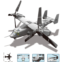 Technic V22 Osprey Tiltrotor Rotary Fighter Building Blocks Military Creator Helicopter Educational toys for Children Compatible