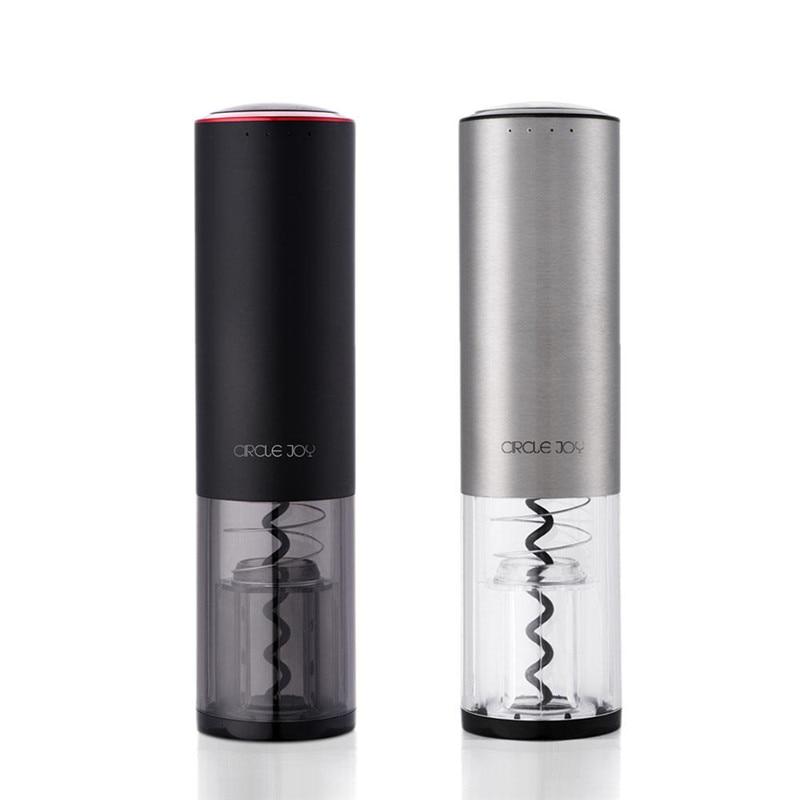 Circle Joy CJ - EKPQ02 USB Charging Automatic Electric Bottle Openers Stainless Steel Wine Opener Black