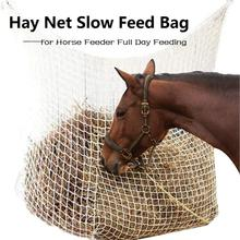 Hay Net Bag Slow Feed Bag for Horse Feeder Full Day Feeding Large Feeder Bag with Small Holes Equipment Nylon Rope 2020 New