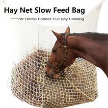 Сено net сумка медленный мешок с кормом для Лошади Фидер полный день подачи подачи большой мешок с маленькими оборудования отверстиями нейлоновая веревка 2020 новый