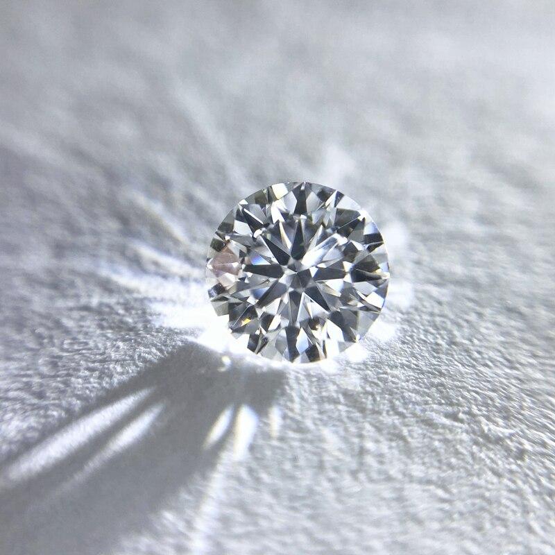 7.5mm D couleur lâche Moissanite 1.5 Carat rond brillant coupe VVS1 grade bijoux lâche pierre de haute qualité anneau bricolage matériel