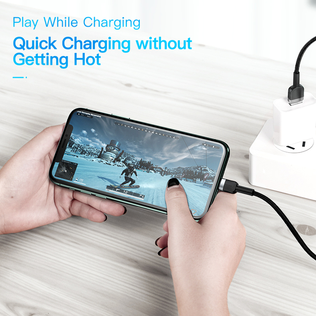 KUULAA USB Cable For iPhone 11 X XS Max 2.4A Fast Charging USB Charger Data Cable For iPhone Cable SE 8 7 6 USB Charge Cord