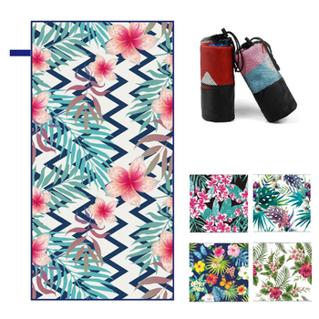 160 X 80CM Flower Beach Towel Double-sided Fleece Spot Men and Women Quick-drying Swimming Sports