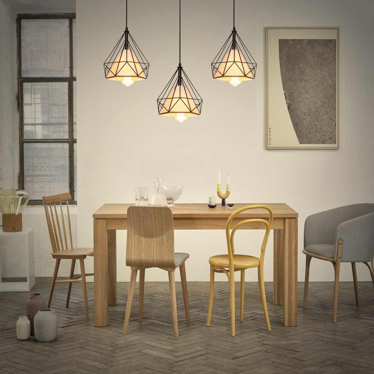 3 cabeças e27 moderna barra de luz pingente restaurante pendurado luminária decoração para casa chá padaria iluminação interior quadrado redondo