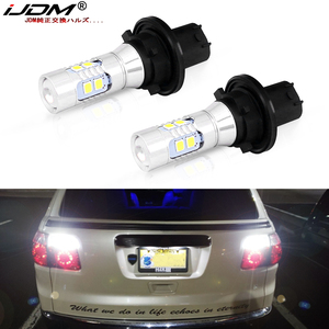 iJDM White CAN-bus 12184 12185 PH24W LED Bulbs For 2010-2016 Cadillac SRX Ford Taurus Chevrolet Camaro Backup Reverse Lights