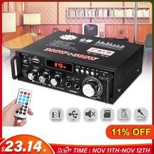 12/220V 600W Car Audio Amplifier 2CH LCD Display Digital HIFI Powers Amplifier bluetooth FM Car Home Stereo Subwoofer W/Remote