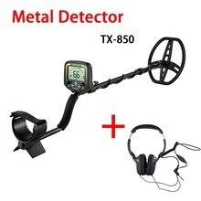 HOT TX-850 Metal Detector Professional Underground Depth Metal Detector With headphones Gold Treasure Detector Hunter Pinpointer