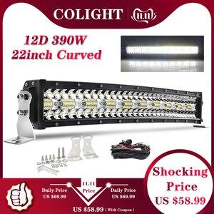 Image 1 - CO LIGHT 12D 22 inch Led Bar Offroad 390W Curved 3 Rows Spot Flood Combo Led Work Light Offroad For Lada UAZ SUV 4WD ATV 12V 24V