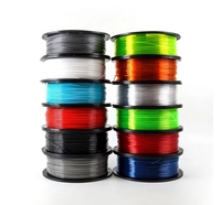 10 Colors PETG filament For 3D Printer 1.75mm 1KG Black tray and yellow package high stiffness impact strength