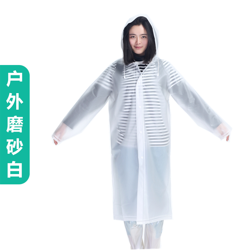 Waterproof Raincoat Women Transparent Plastic Travel Ladies Hooded Raincoat Overall Outdoor Impermeable Poncho Rain JJ60YY