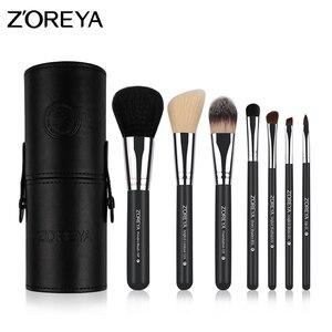 Image 5 - Zoreya pinceaux de maquillage professionnel poudre lèvres Blush fond de teint cils brosse kit ombre à paupières outils cosmétiques