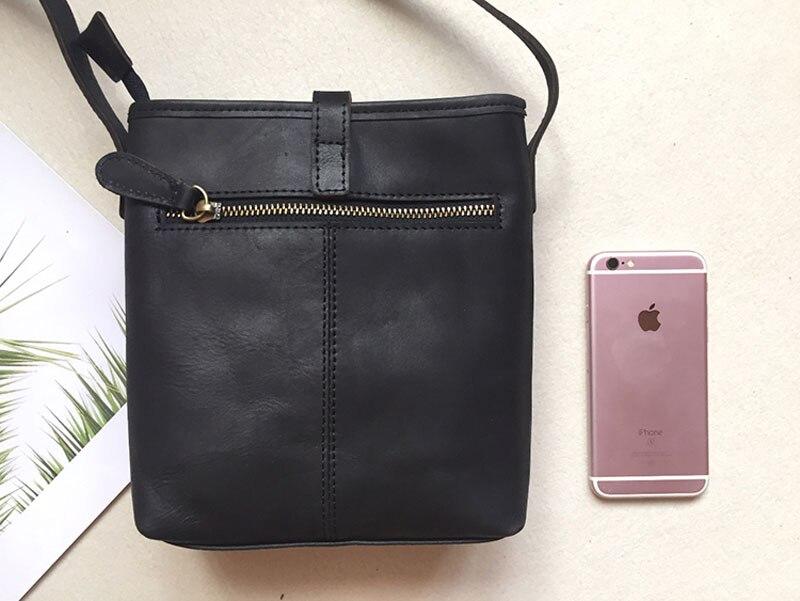 Nova bolsa de couro pequeno simples fosco
