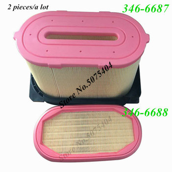 цена на 2 Pcs Brand New Air Filter 346-6687 346-6688 Air Filter Element For CAT 315 Heavy Duty Truck Diesel Filter Air Clearer
