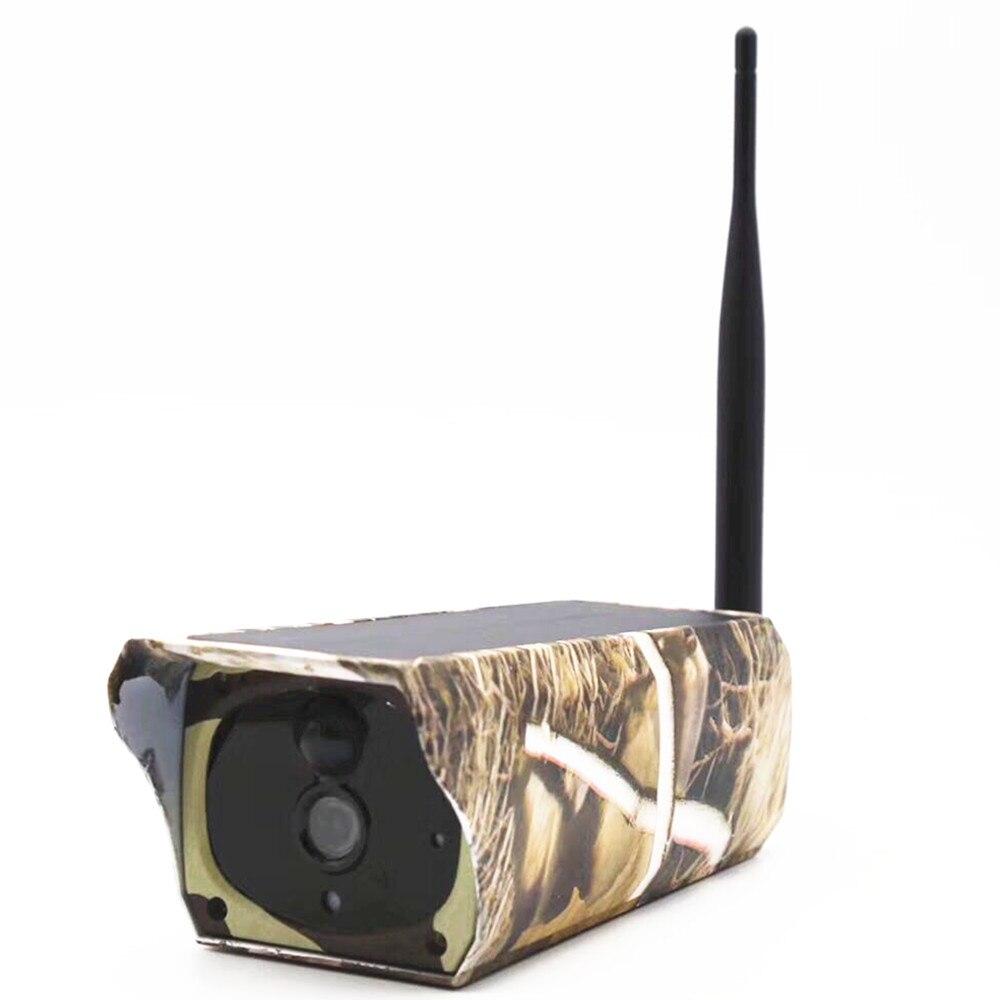 Беспроводная ip-камера солнечной энергии IP65 водонепроницаемая наружная камера для наблюдения за дикой природой ИК ночного видения