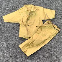 Novo 1/6 escala acessórios roupas soldier desert uniformes definido para 12